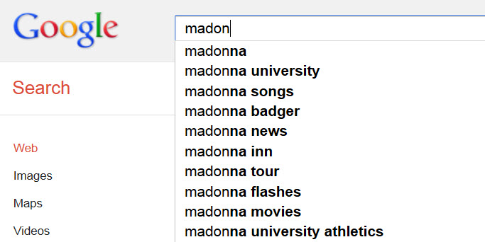 madonna search