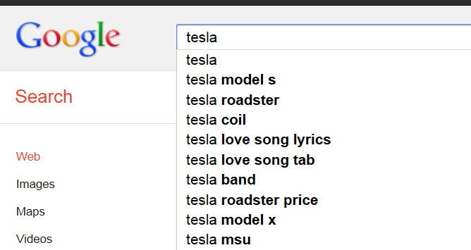 tesla search
