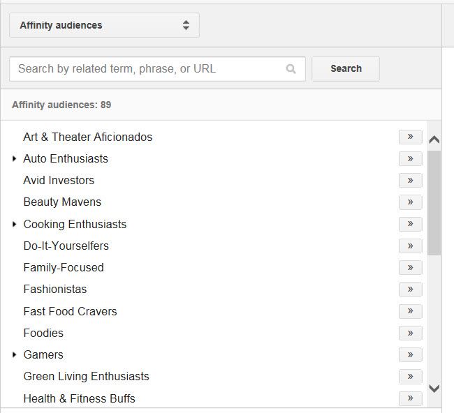 affinity audiences