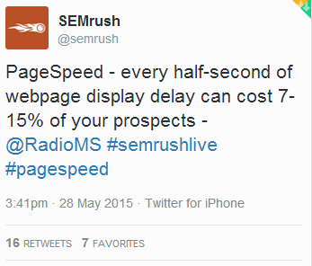 page speed tweet