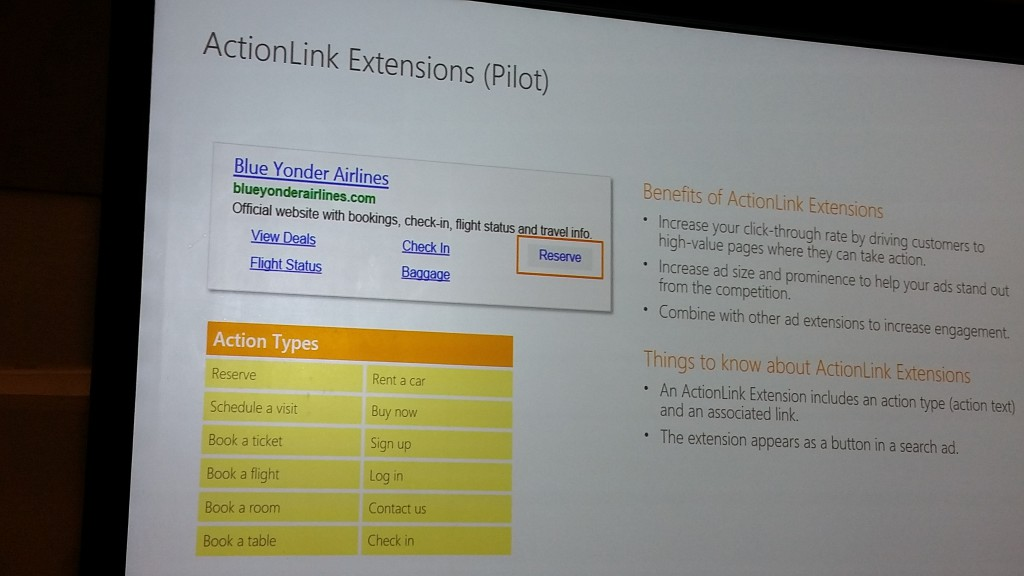 action link extensions
